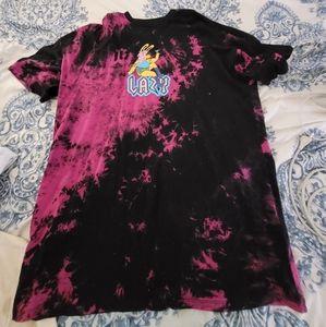 Lazy Oaf tie dye pink shirt dress